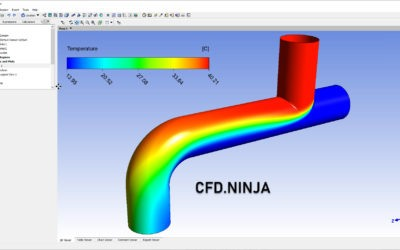 Ansys CFX – Heat Transfer through a Pipe