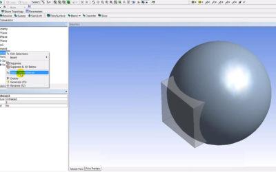 Ansys DesignModeler – Freeze & Unfreeze