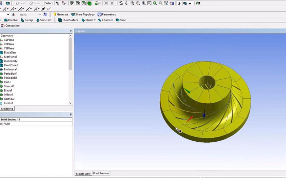 Ansys DesignModeler – Import from BladeGen to DesignModeler