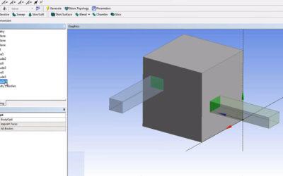 Ansys DesignModeler – Imprint Face