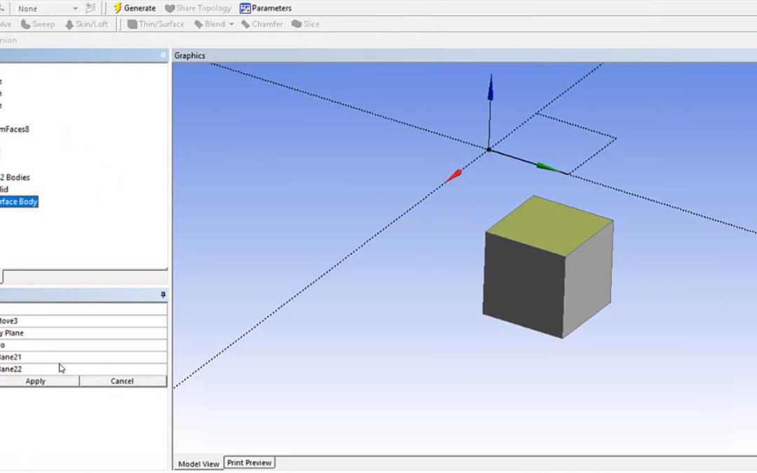 Ansys DesignModeler – Offset Surface