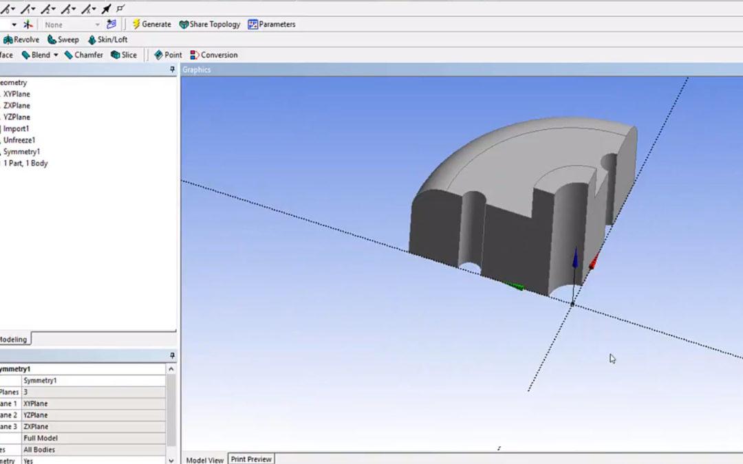 Ansys DesignModeler – Symmetry