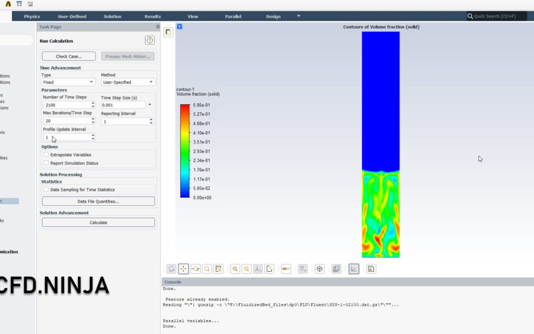 Ansys Fluent – Fluidized Bed