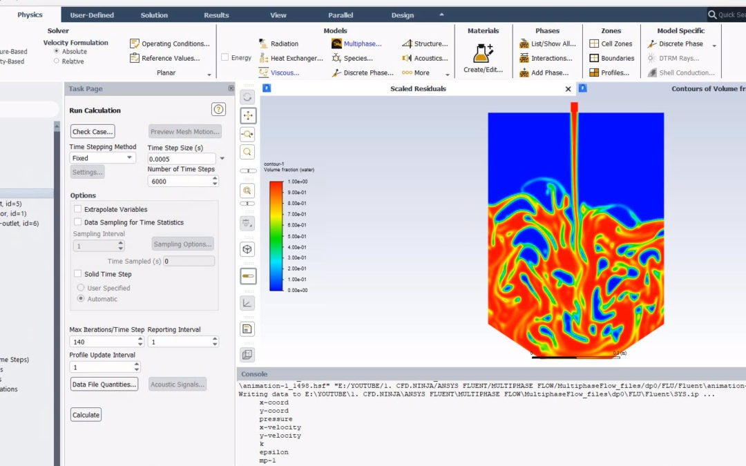 Ansys Fluent – Multiphase Flow (Free surface)