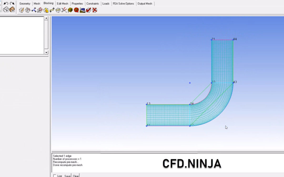 Ansys ICEM CFD – Meshing a 2D Pipe
