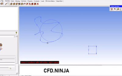 Ansys ICEM CFD – Create Points & Curves