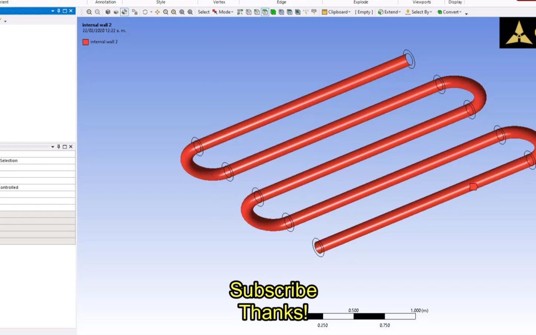 Ansys Meshing – How to select internal walls?
