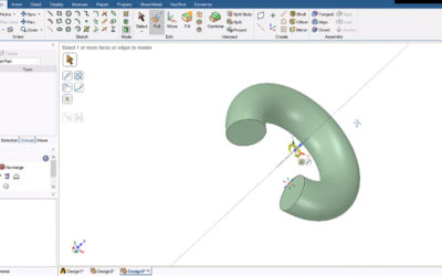 Ansys SpaceClaim – Extrude, Revolve, Sweep, Blend/Loft