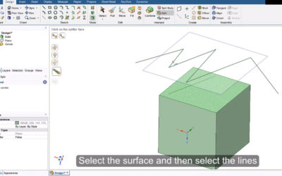 Ansys SpaceClaim – Split Surface