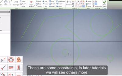 Autodesk Inventor – 2D Sketch / Constraints