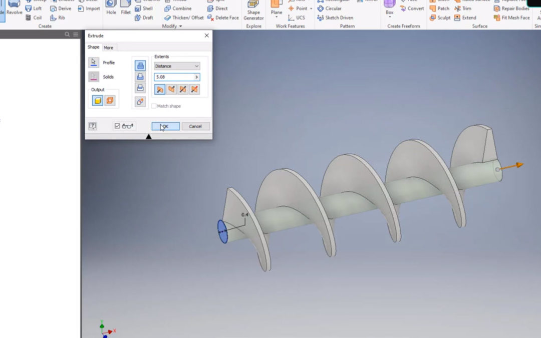 Autodesk Inventor – Coil tool / Endless Screw