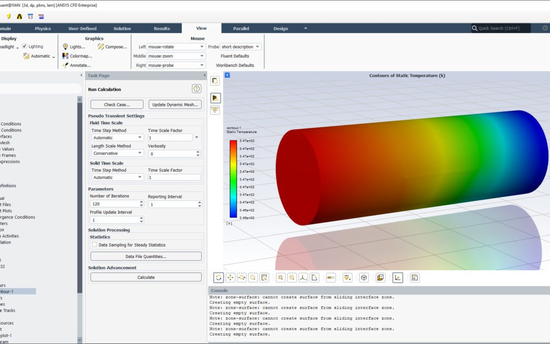 Ansys Fluent | Convection Heat transfer & Convergence Criteria