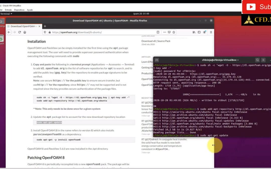 How to install OpenFOAM V8 (2020) on Windows