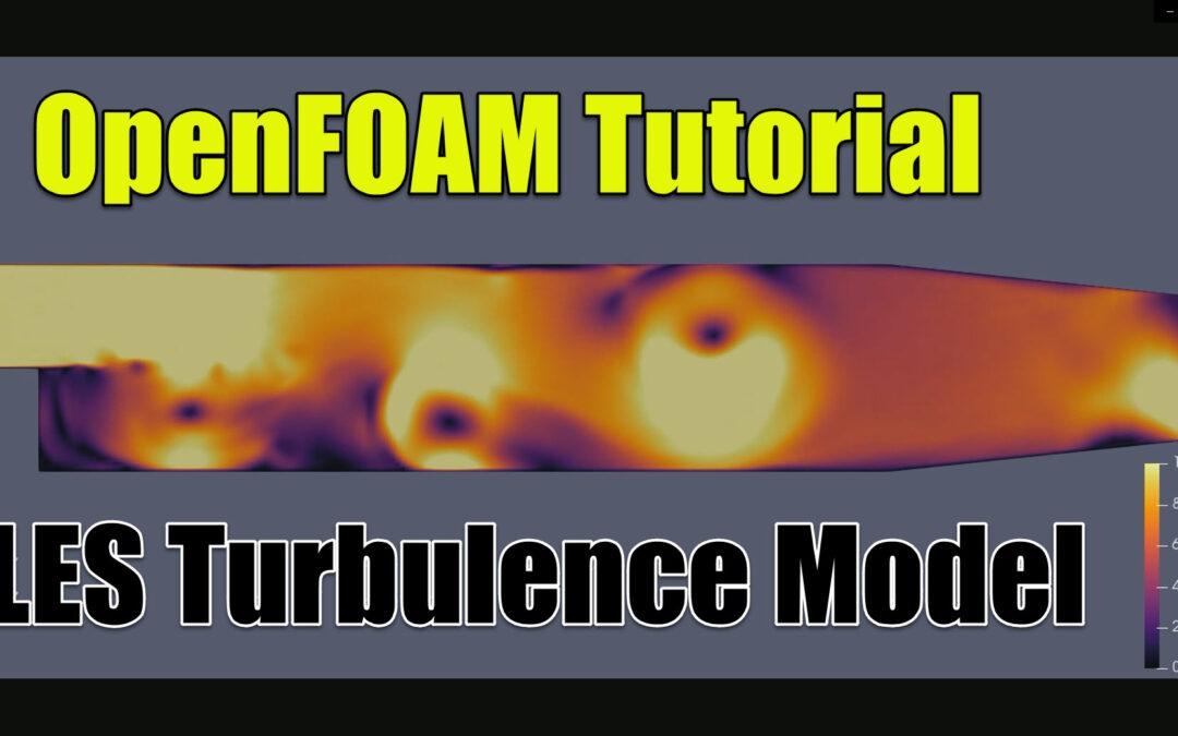 OpenFOAM Tutorial | pitzDaily | LES Turbulence Model