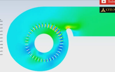 Ansys Fluent | Blower | Mesh Motion (Unsteady)