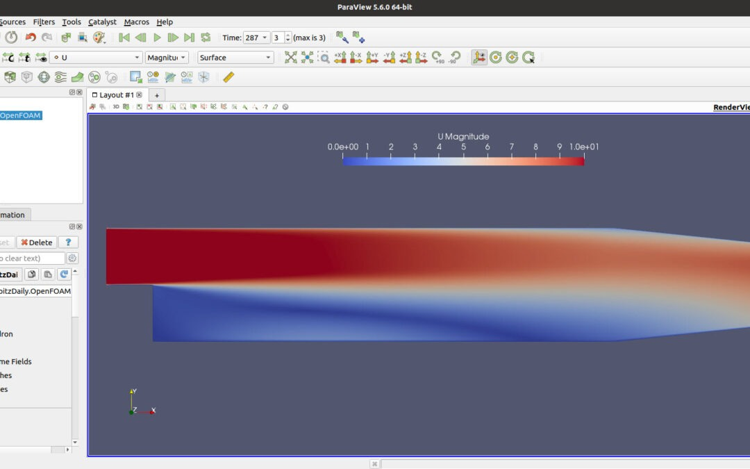 OpenFOAM   First Tutorial – pitzDaily